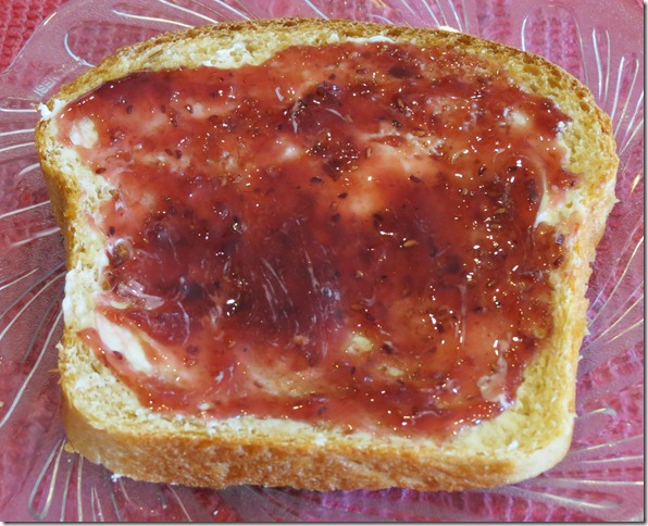 Whole Wheat Bread Slice with butter and jam