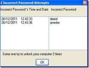 Sumra Soft Lock PC Now tentativi errati di inserimento password di sblocco