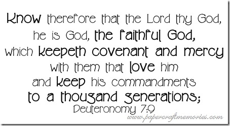 Deuteronomy 7:9 WORDart by Karen for WAW personal use