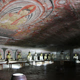 Inside one of the Dambulla caves
