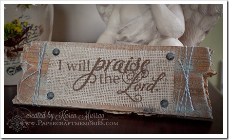 Praise Sign www.papercraftmemories.com