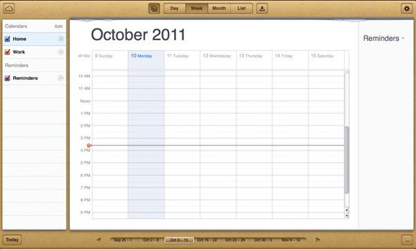 Icloud calendar 2