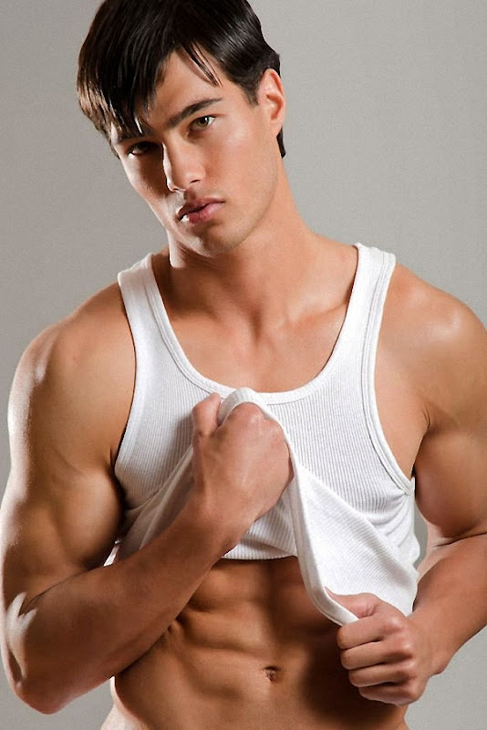 Ripped Young Dude Losing Tank Top