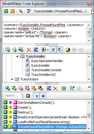 Редактирование документации в окне Code Explorer