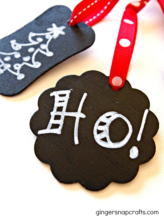 easy chalkboard ornaments