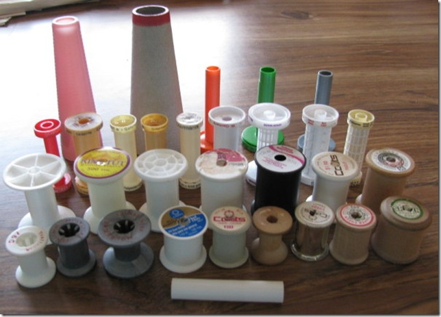 thirty-one spools