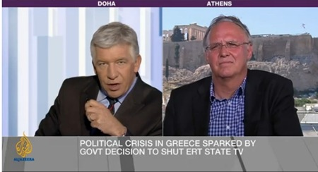 Ελληνική κόντρα στο Al Jazeera: Δούκας: «Η Ελλάδα είναι σε φάση ανάκαμψης» – Βαρουφάκης: «Το success story του Σαμαρά είναι μια φούσκα»