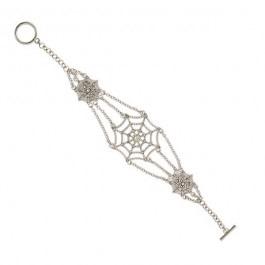 Spiderman Web Crystal Bracelet from 1928 Jewelry