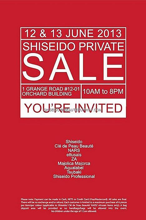 Shiseido Warehouse Sale 2013 Nars, Shiseido Cle De Peau Beaute, Ettusais, ZA, Majolica Majorca, Aqualabel, Tsubaki , Shiseido Professional Maquillage Japanese beauty cosmetics makeup, skincare haircare bodycare foundation blusher
