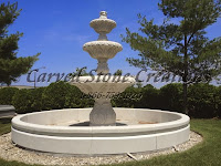 12' Round Cypress Fountain Pool Surround, Golden Cypress Granite