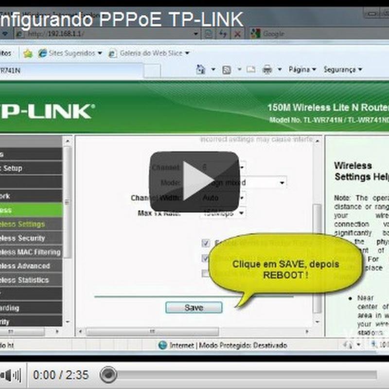 Configurando Router Tp-Link PPPoE e WDS (Repetidor)