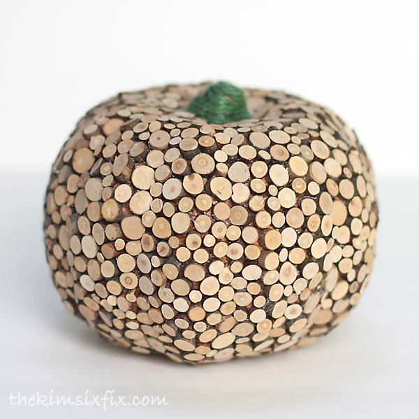 Wood slices pumpkin