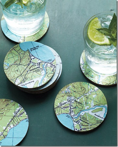 martha stewart map coasters