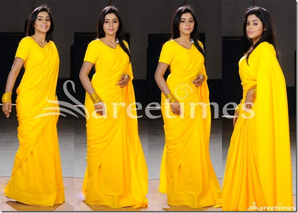Poorna_Yellow_Plain_Saree