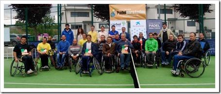 Patxi Fadrique y Edorta de Anta conquistan el IV Torneo Nacional de Pádel Adaptado en silla de ruedas 2013 realizado en León.
