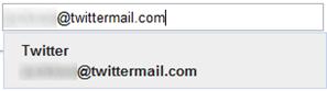 Colocar e-mail do TwitterMail no círculo