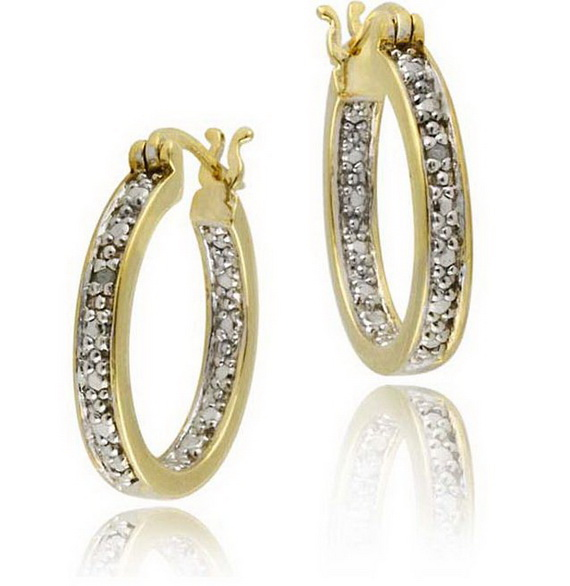 Popular FilledPlated Hoop Earrings Fashion Earring For Women Wedding Earring