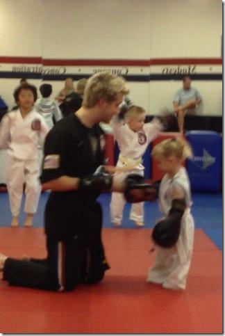 reese starts karate