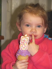 3rd birthday Bella 2013 Bellz w cupcake2