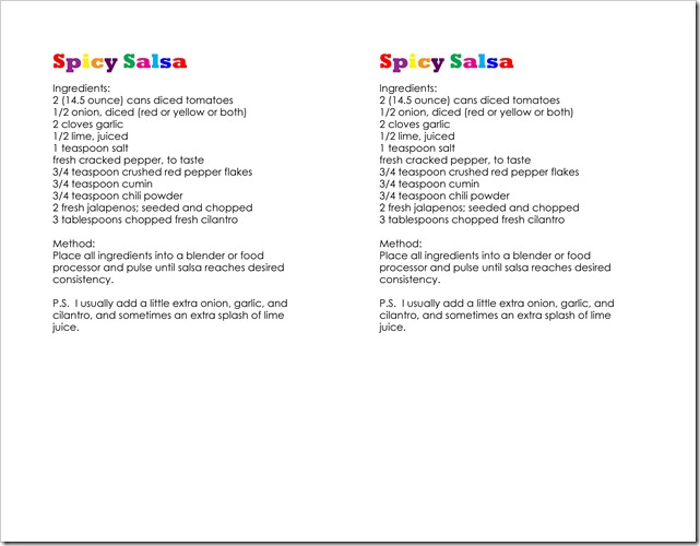 Recipe-Spicy Salsa copy