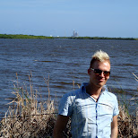 matt in front of the STS-126 launch in Cape Canaveral, Florida, United States