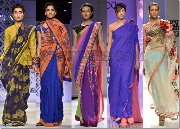 WLIFW_Spring_Summer_2013_Blue_Sarees