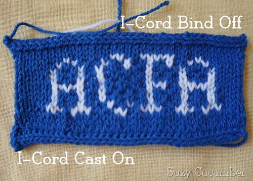 I-cord cast on and off