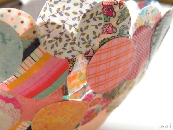 Paper Mache Confetti Bowl