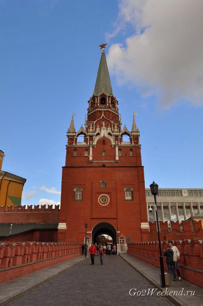 Московский Кремль. Троицкие