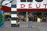 At the entrance to Legoland in Günzburg, Germany