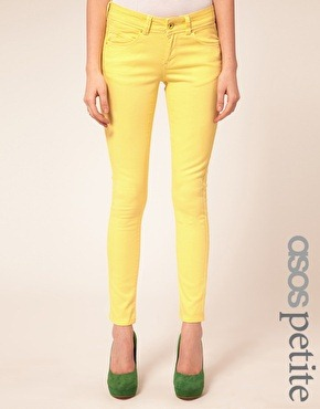 ASOS skinny jeans in lemon