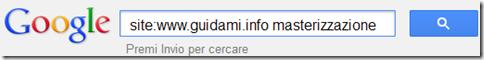 operatore Google per cercare dentro un sito