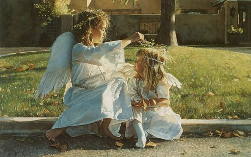 Steve Hanks, Someone to Watch Over, акварель