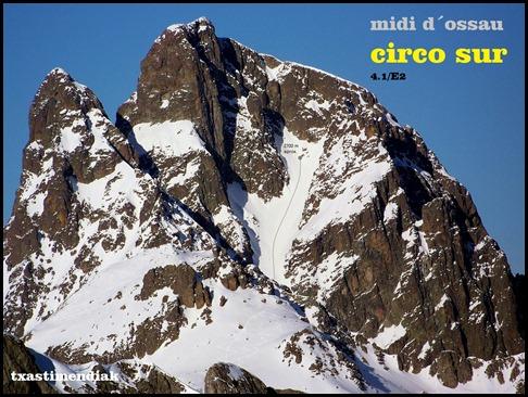 Midi d'Ossau - Circo Sur 600m 4.1-E2 (Txastimendiak)