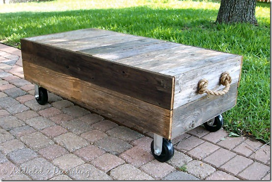 diy factory cart style coffee table