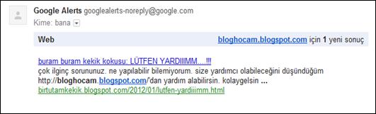 Google Alerts Kim Bahsetmiş?