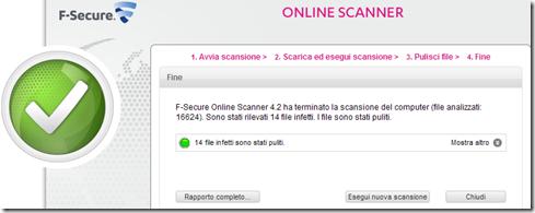 F-Secure Online Scanner Fine