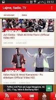 Screenshot of Lajme, Radio, Muzik, Tv Shqip
