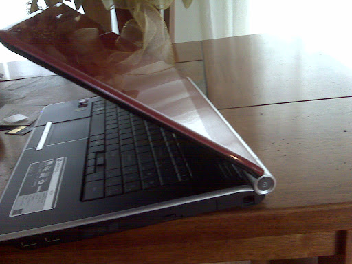 My loverly laptop. It has Windows 7 which so far, I like.