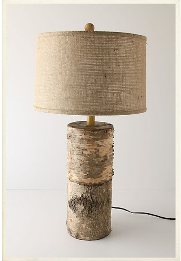 Neutral accessories, like this lamp, are suitable for a wide variety of rooms.  (anthropologie.com)
