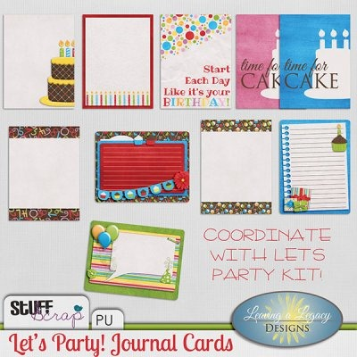 Let's Party - Journal Cards