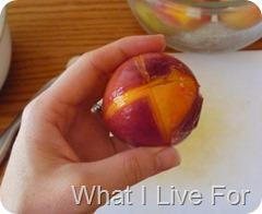 Peel peaches quickly
