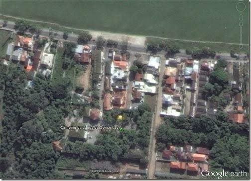 Vista aérea Camping Lagoa da Conceição