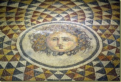 Pergamon Medusa Mosaic Detail