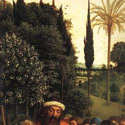 019 tríptico de San Bavón en Gante Adoración peregrinos.jpg