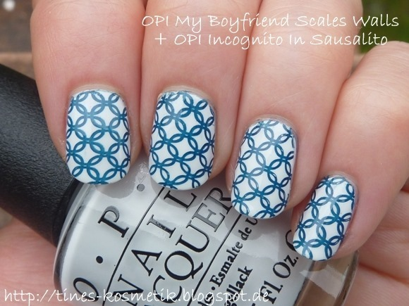 OPI My Boyfriend Scales Walls Stamping 2