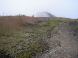 Back over to the middle volcanic peak and then to the crater peak (Daniel Quinn, June 2010)