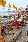 Ghat au bord du Gange