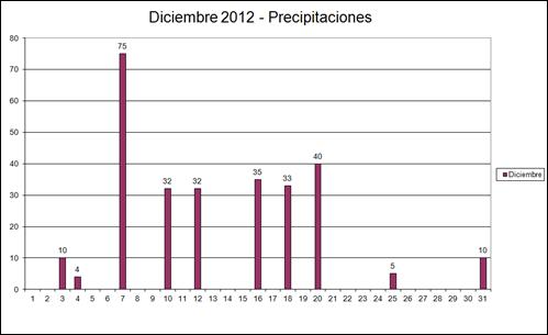 Precipitaciones (Diciembre 2012)