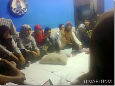 Rapat Persiapan Pelantikan Pengurus HIMAFI 2014